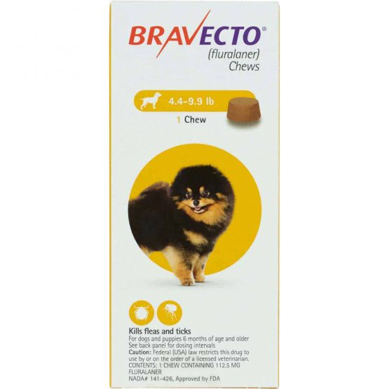 Bravecto Flea and tick treatment for dogs, 1dose 1- 4.5kg