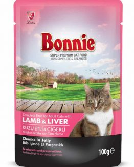 Bonnie Pouch Lamb & Liver in Jelly for Cats