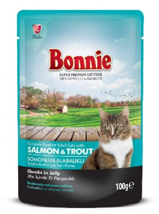Bonnie Pouch Salmon & Trout in Jelly for Cats