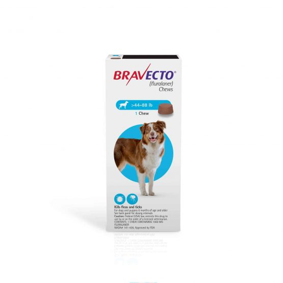 Bravecto Flea and tick treatment for dogs, 1dose 20 kg - 40kg