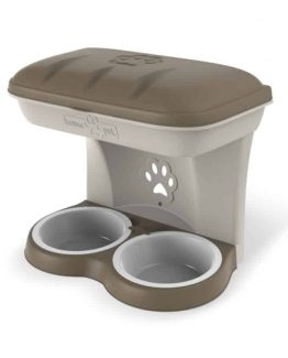 Bama Pet Food Stand Wall Hanging Bowl for Dogs
