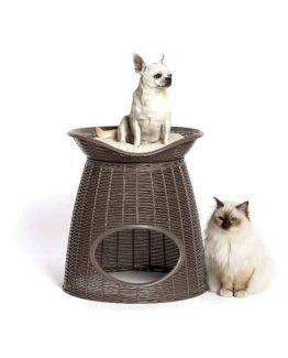 Bama Pet Pasha Pet Home - with dog and cat