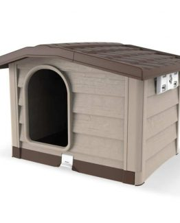 Bama Pet Plastic Dog House Bungalow Beige