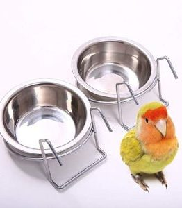 Bird Cage Food & Water Dishes