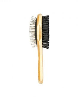 Duvoplus Bamboo 2-In-1 Pet Grooming Brush
