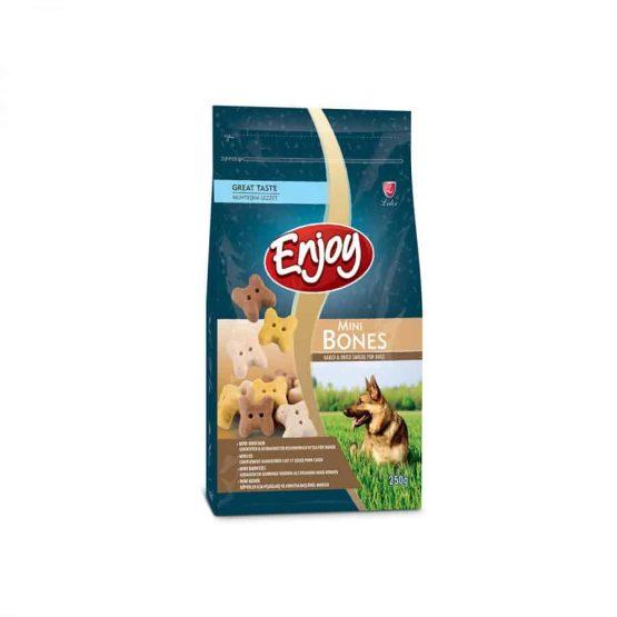 Enjoy Mini Bone-Shaped Baked & Dried Snacks for Dogs