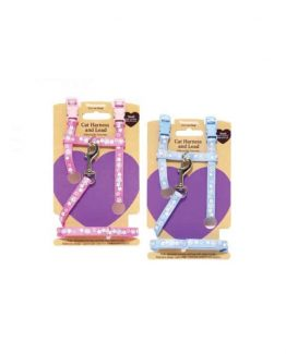 Flower Reflective Harness and Lead Set