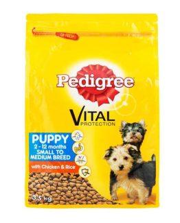 Pedigree Small to Medium Breed Puppy Food (Chicken & Rice)