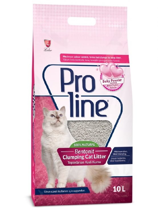 Proline Bentonit Cat Litter (Baby Powder Scented) - 10 L