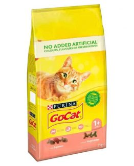 Purina Go-Cat Adult Dry Cat Food with Salmon and Vegetables