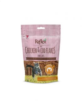 Reflex Mini Chicken & Cod Flake Treats For Cats