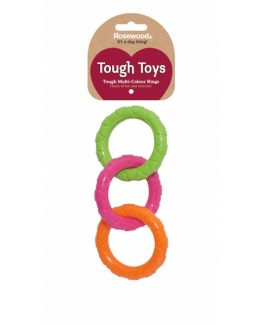 Rosewood Tough Multi-colour Ring Toy
