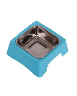 Stainless Steel single Pet Feeding Bowl - blue