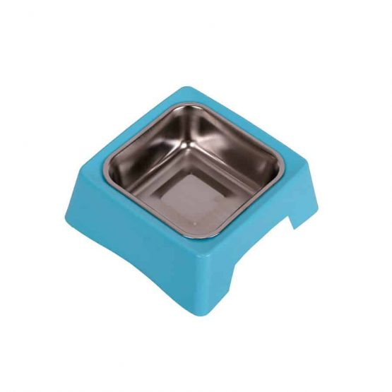 Stainless Steel single Pet Feeding Bowl - blue