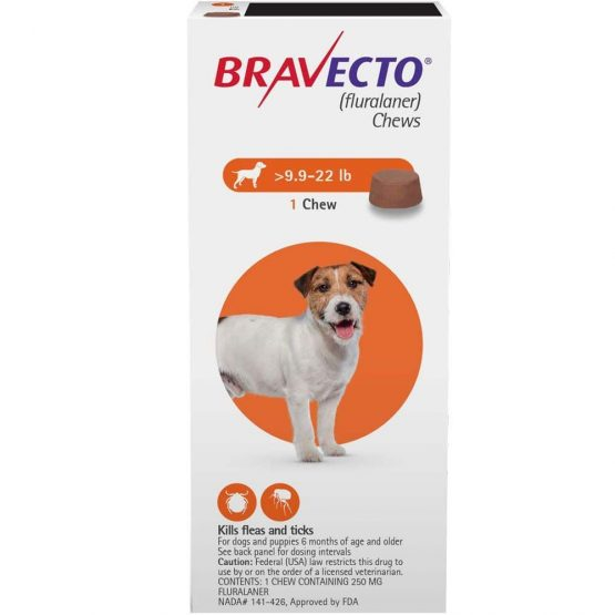Bravecto Flea and tick treatment for dogs, 1dose 4.5kg -10 kg